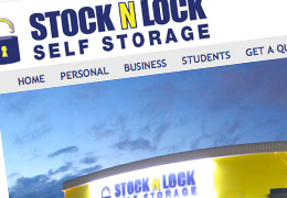 Stock N Lock Self Storage website design